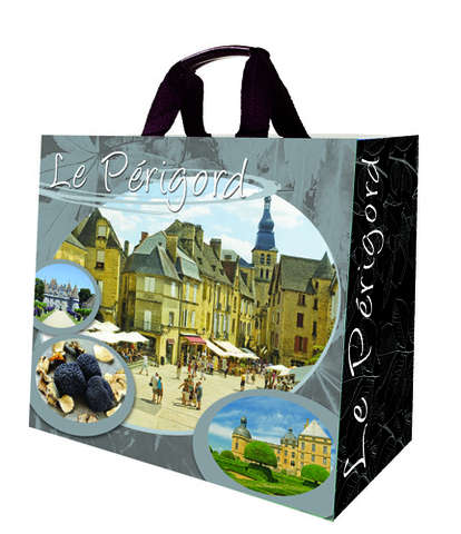 Shopper Einkaufstasche 33L PP gedruckt 'Perigord' : Ladentaschen einkaufstaschen modetaschen