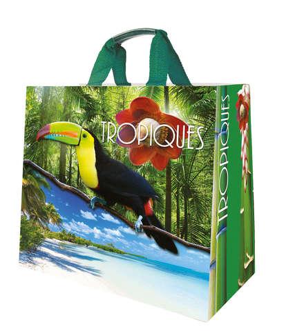 Shopper Einkaufstasche 30L PP bedruckt 'Tropiques' : Ladentaschen einkaufstaschen