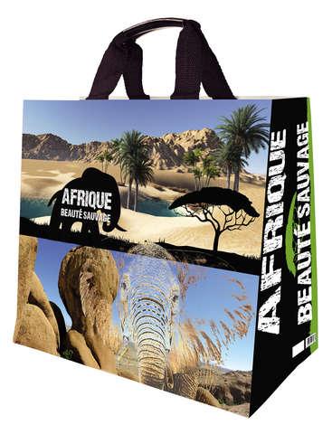 Shopper Einkaufstasche 33L PP bedruckt 'Afrique' : Ladentaschen einkaufstaschen modetaschen